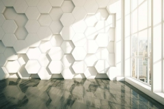 Honeycomb dark parquet